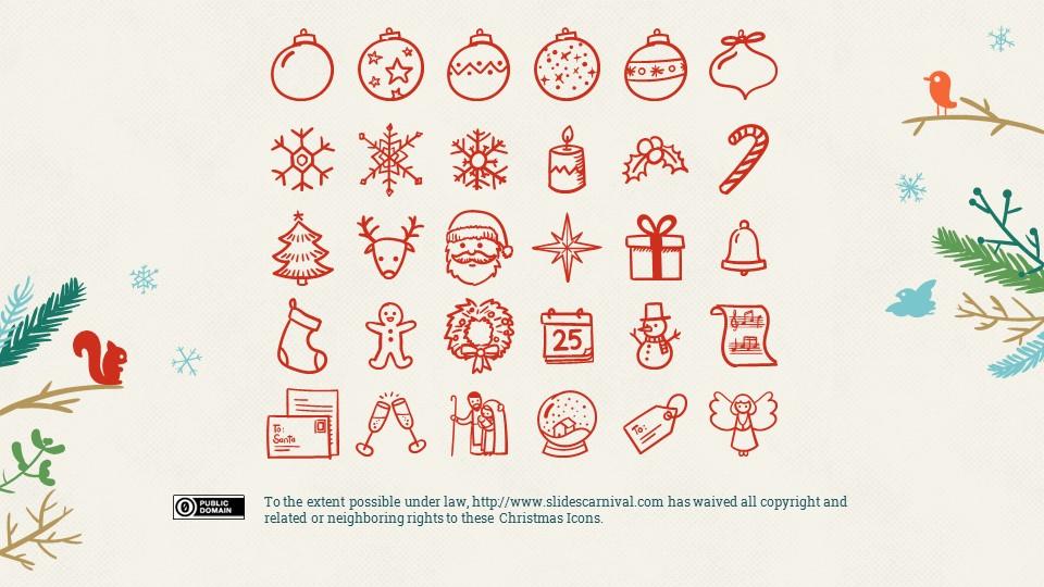 圣诞节插画风彩色PPT模板下载_预览图25