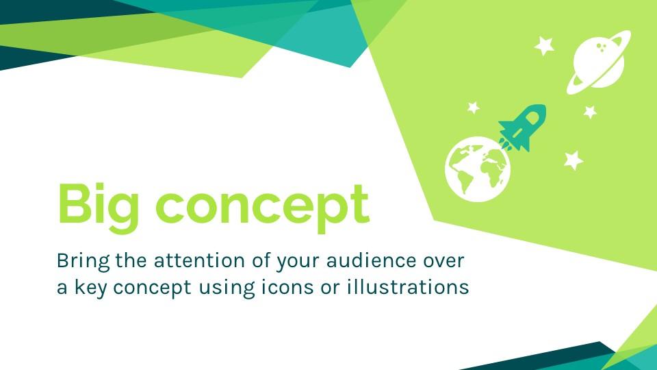 蓝绿色简约商务专用幻灯片模板_预览图7