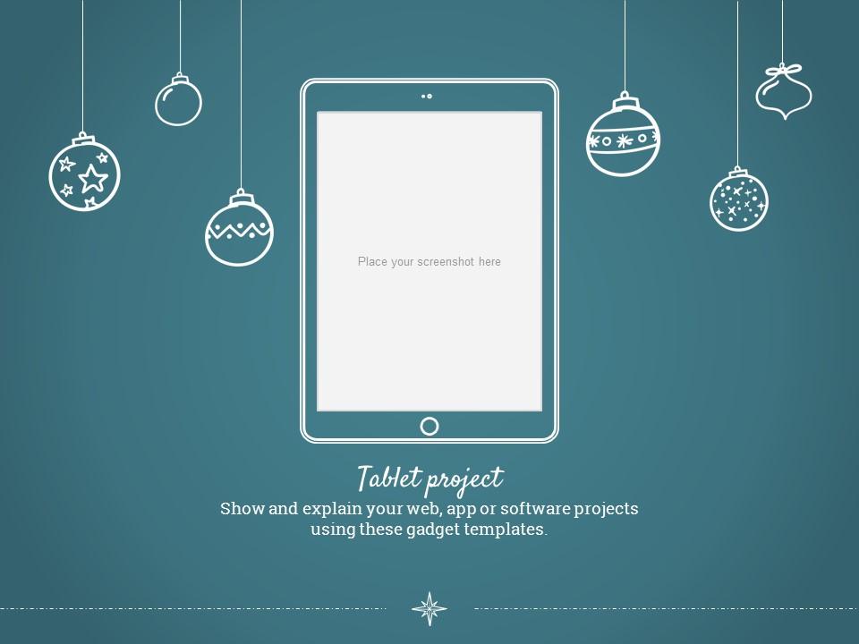 圣诞节卡通线条画红蓝交替背景幻灯片模板下载_预览图20