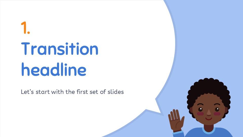 卡通人物对话框PPT模板下载_预览图4