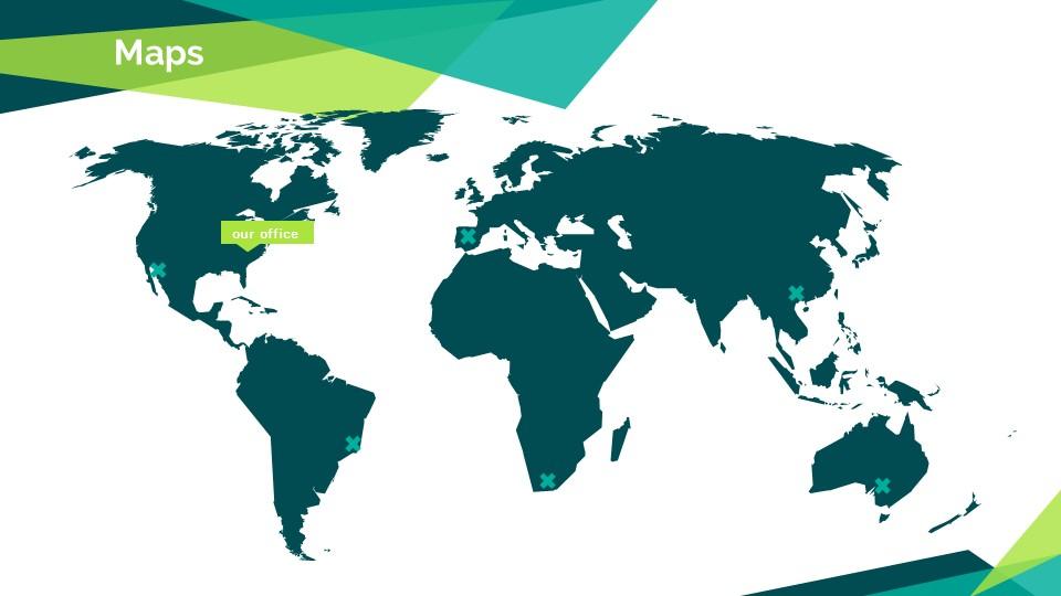 蓝绿色简约商务专用幻灯片模板_预览图14