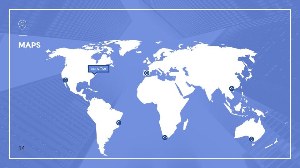 蓝色建筑线条风格汇报PPT模板下载_预览图14