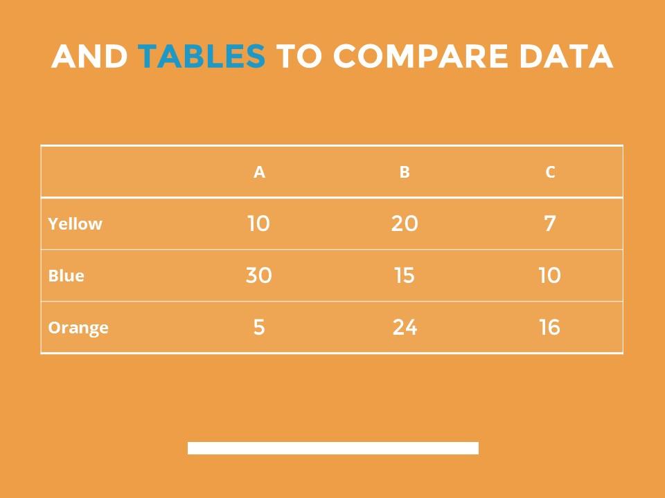 蓝色橙色交替的简洁欧美范PPT模板下载_预览图14