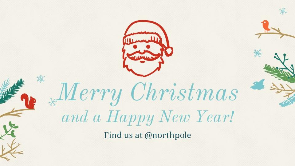 圣诞节插画风彩色PPT模板下载_预览图22