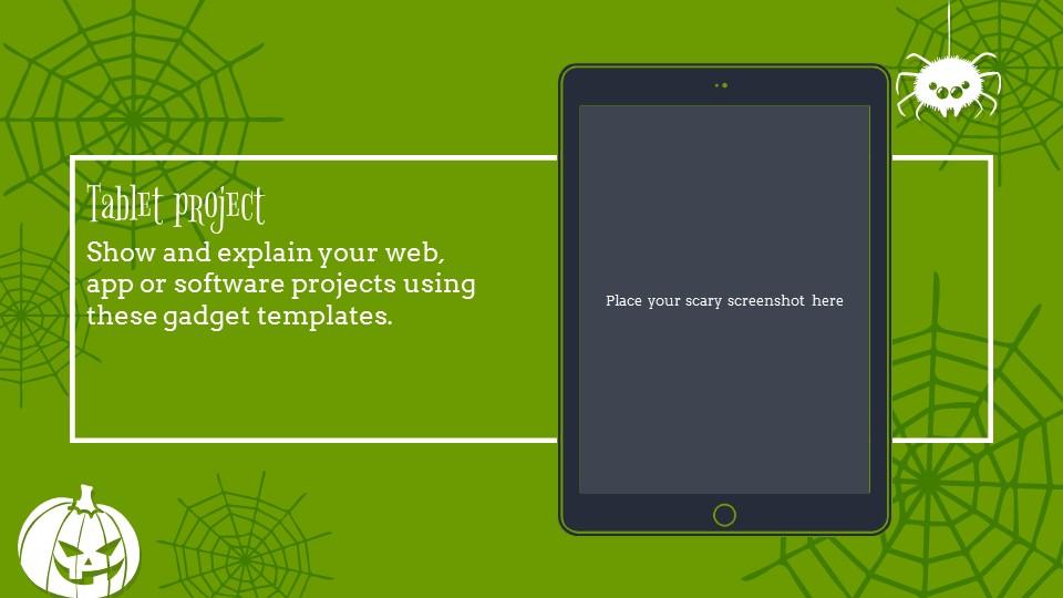 多彩万圣节主题纯色powerpoint模板下载_预览图22