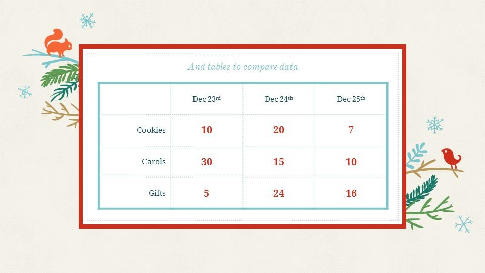 圣诞节插画风彩色PPT模板下载_预览图12