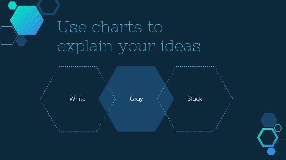 六边形简易图标深蓝色背景PPT模板下载_预览图12