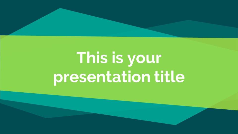 蓝绿色简约商务专用幻灯片模板_预览图1