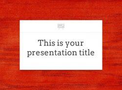 红色木地板背景PPT模板下载