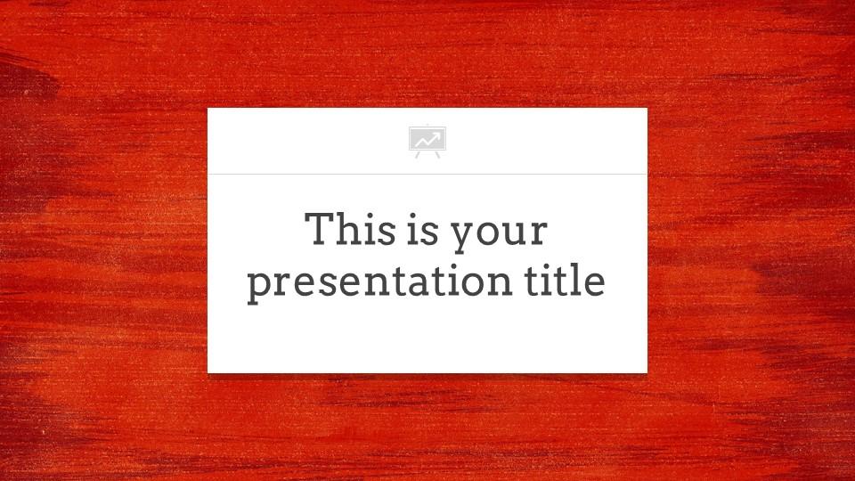 红色木地板背景PPT模板下载_预览图1