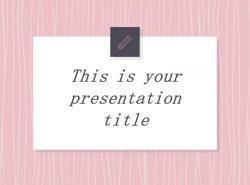 可爱粉色系粉红灰线条背景商务/个人总结汇报PPT模板下载
