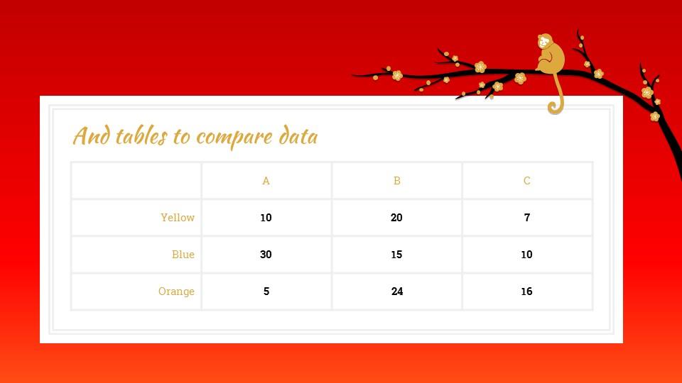 猴年春节中国红背景梅花PPT模板_预览图13