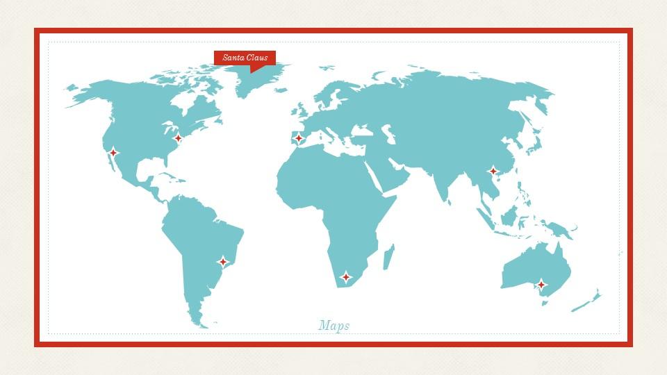 圣诞节插画风彩色PPT模板下载_预览图13