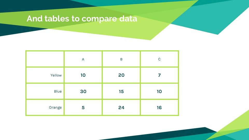 蓝绿色简约商务专用幻灯片模板_预览图13
