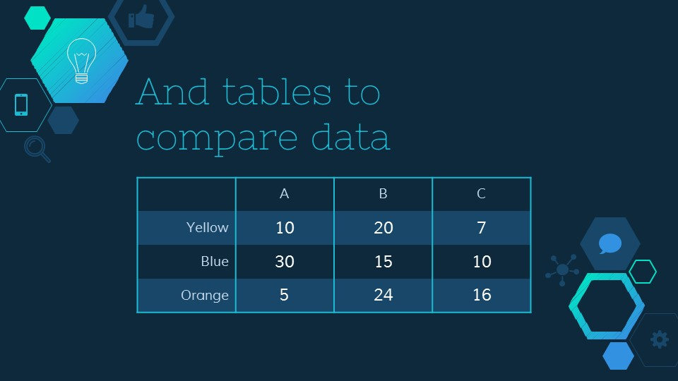 六边形简易图标深蓝色背景PPT模板下载_预览图13