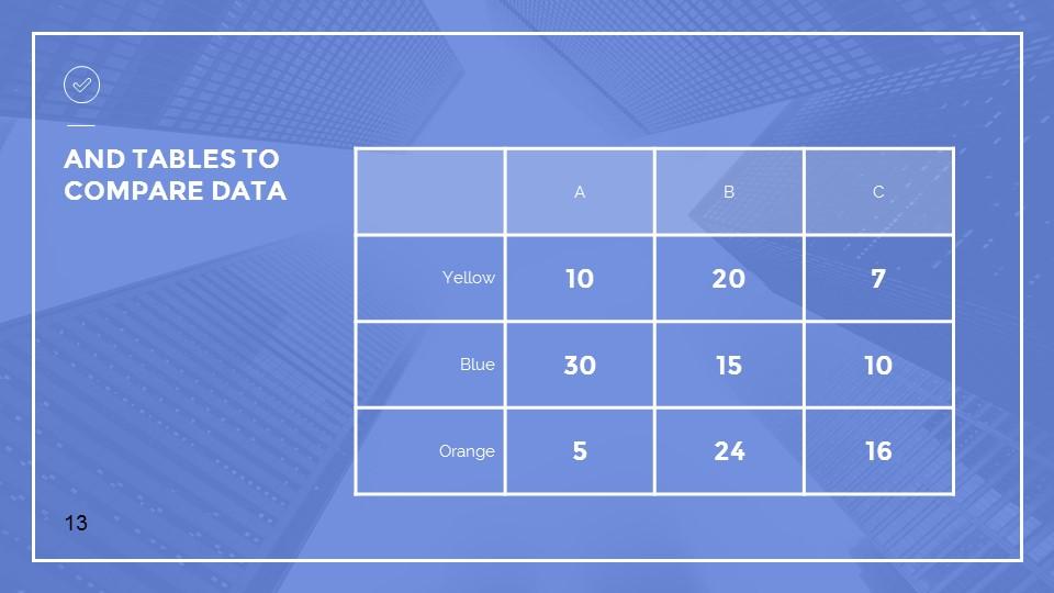 蓝色建筑线条风格汇报PPT模板下载_预览图13