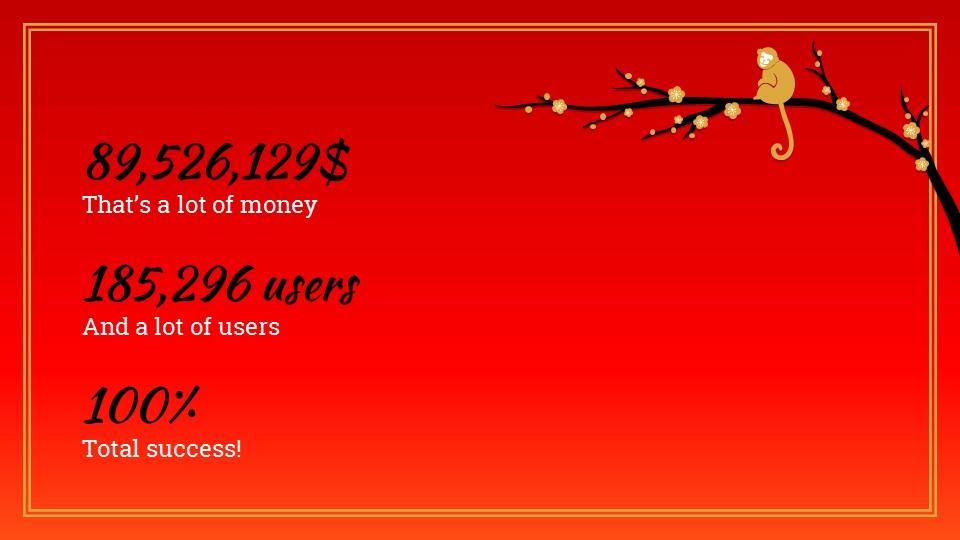 猴年春节中国红背景梅花PPT模板_预览图16