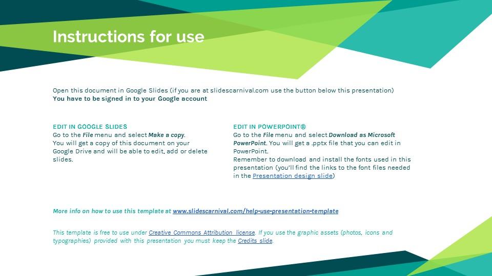 蓝绿色简约商务专用幻灯片模板_预览图2