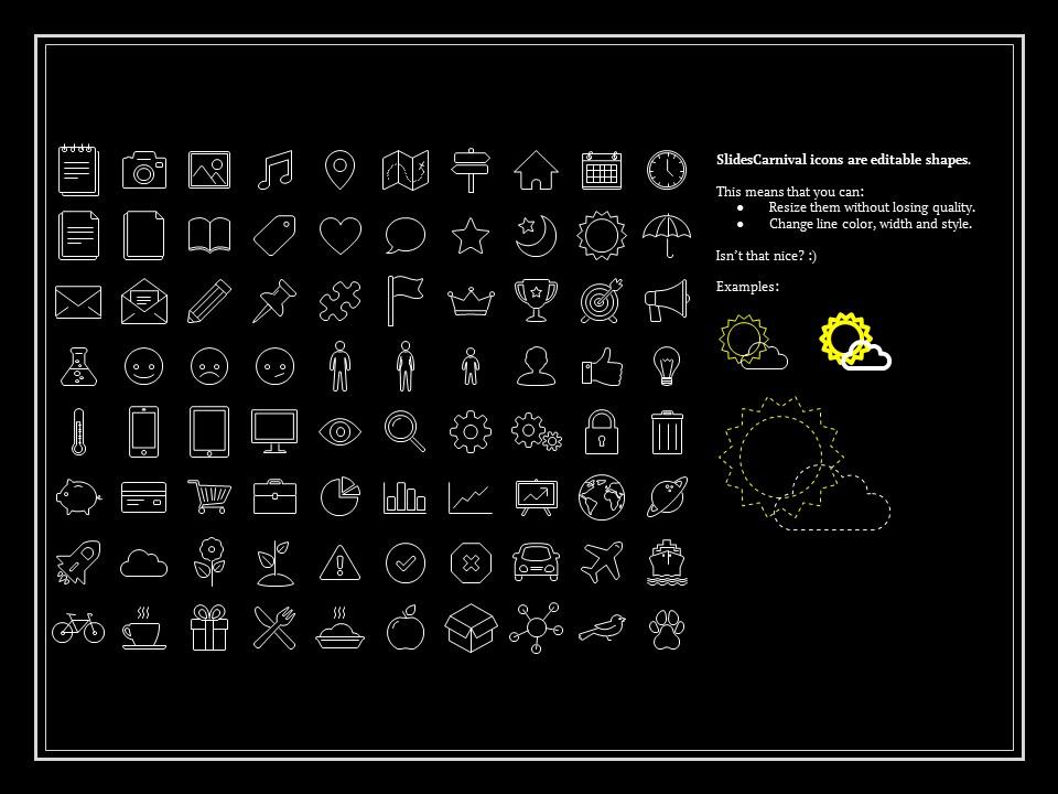 简单黑白叙事幻灯片模板下载_预览图27