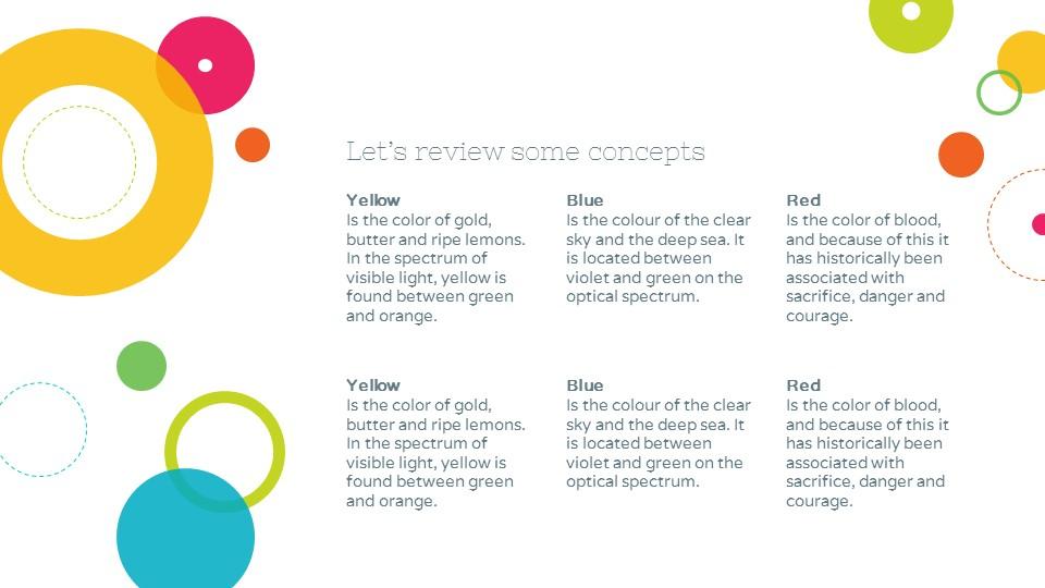 彩色泡泡可爱风格个人简历汇报PPT模板下载_预览图19