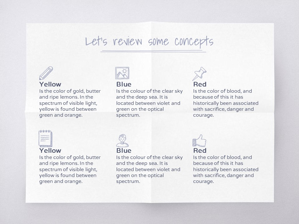 淡雅纸张风格彩色简约商务PPT模板下载_预览图19