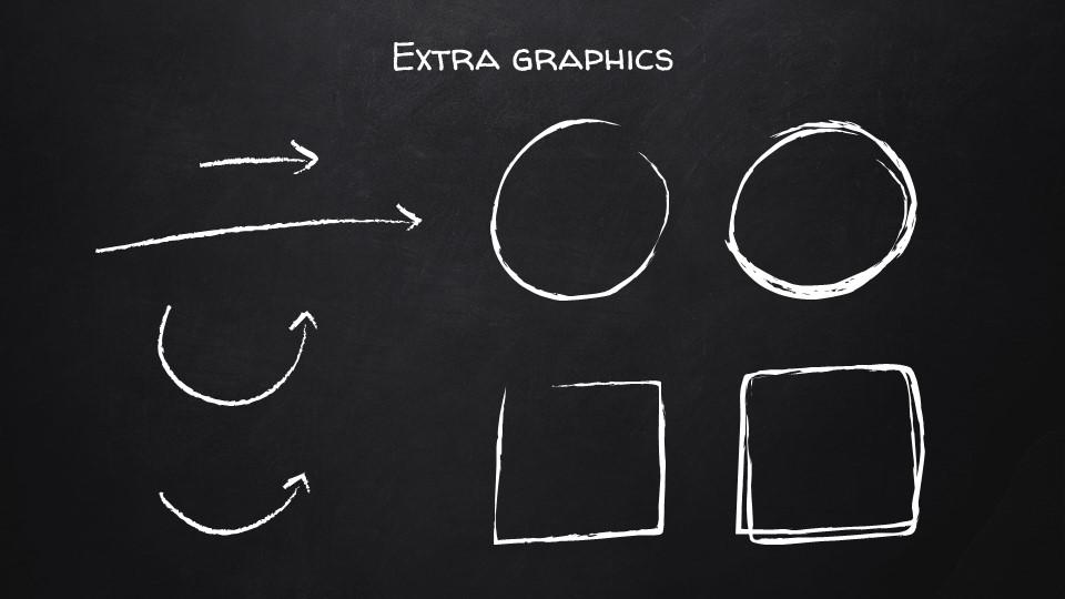 黑板可爱写意手写铅笔字/粉笔字风格PPT模板下载_预览图28