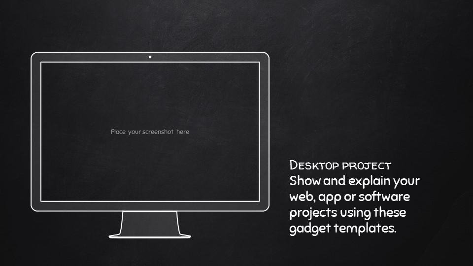 黑板可爱写意手写铅笔字/粉笔字风格PPT模板下载_预览图23