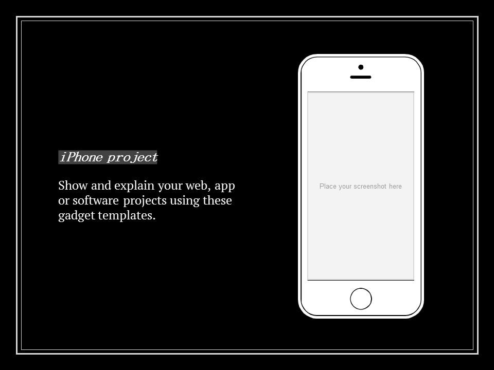 简单黑白叙事幻灯片模板下载_预览图21