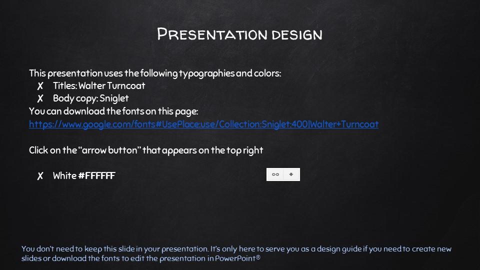 黑板可爱写意手写铅笔字/粉笔字风格PPT模板下载_预览图26