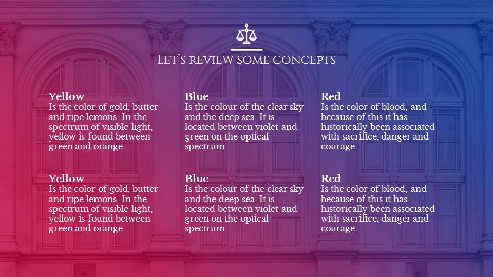 欧美建筑风格蓝红渐变PPT模板下载_预览图18