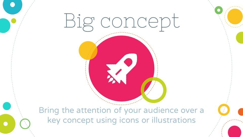 PPT的背景是白色的,周围有许多彩色的圆圈作为装饰。PPT的整体风格鲜艳亮丽、充满活力。PPT的内容大致由七个部分组成,分别是封面、自我介绍、进入主题、介绍概念、图表数据分析、总结报告、结束页。PPT出现图片的位置可以自主更换符合内容的图片。图表部分的内容是提示演示过程中应该适当加入图表,图表格式新颖,使人眼前一亮。其余部分,每一张PPT都做出来内容的注释,最后一张PPT给出了可能用到的所以简易图标。该PPT适用于PPT入门者、公司总结报告、方案答辩等。 该PPT模板已经帮助了499人。