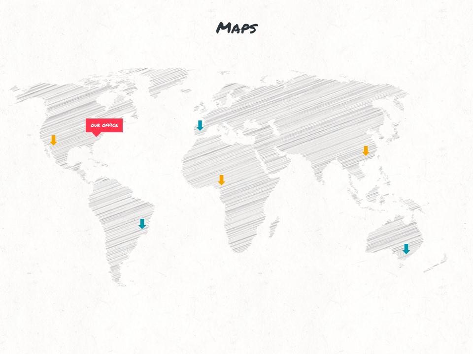 红黄蓝水彩线条画风格艺术PPT模板下载_预览图15