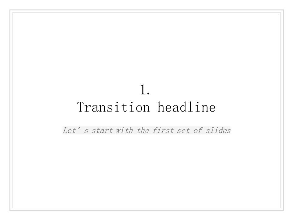 简单黑白叙事幻灯片模板下载_预览图4