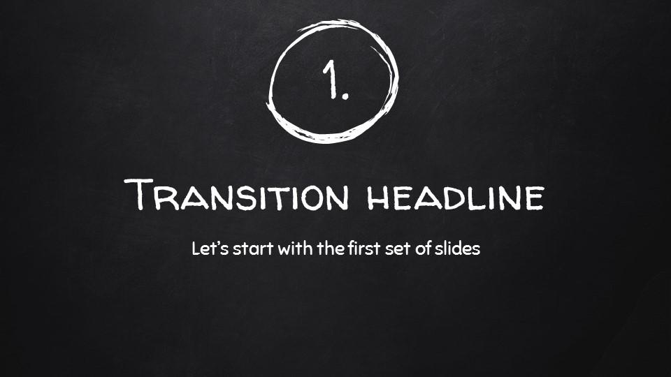 黑板可爱写意手写铅笔字/粉笔字风格PPT模板下载_预览图4