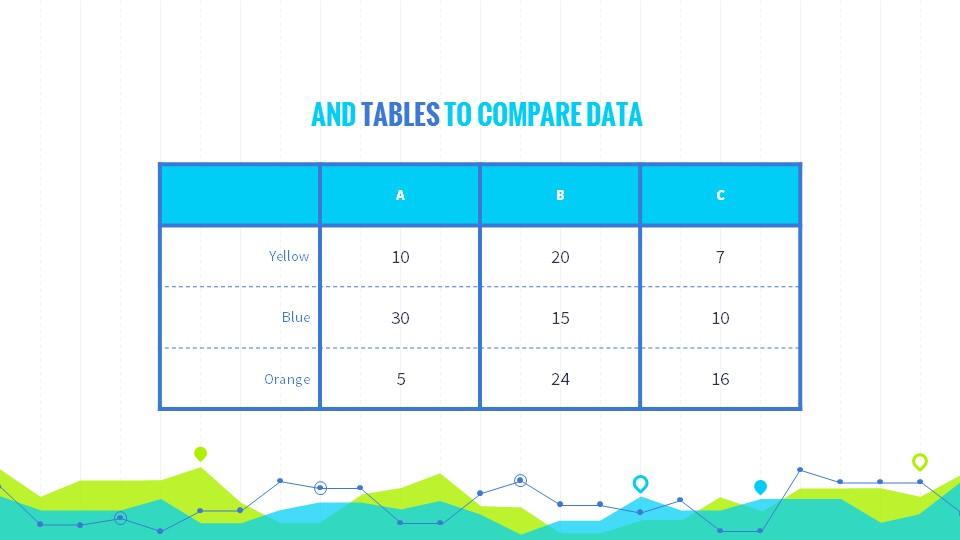 黄绿色数据分析商务专用幻灯片PPT模板_预览图14