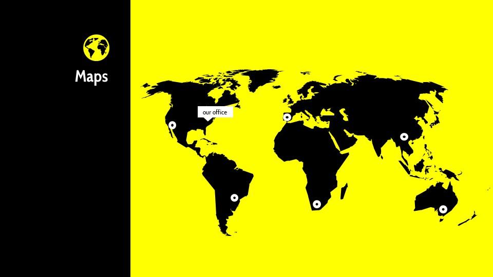 黑黄配色强烈冲击的PPT模板下载_预览图14
