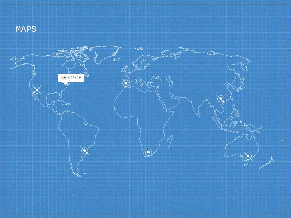 蓝色网格科技互联网风格PPT模板下载_预览图14