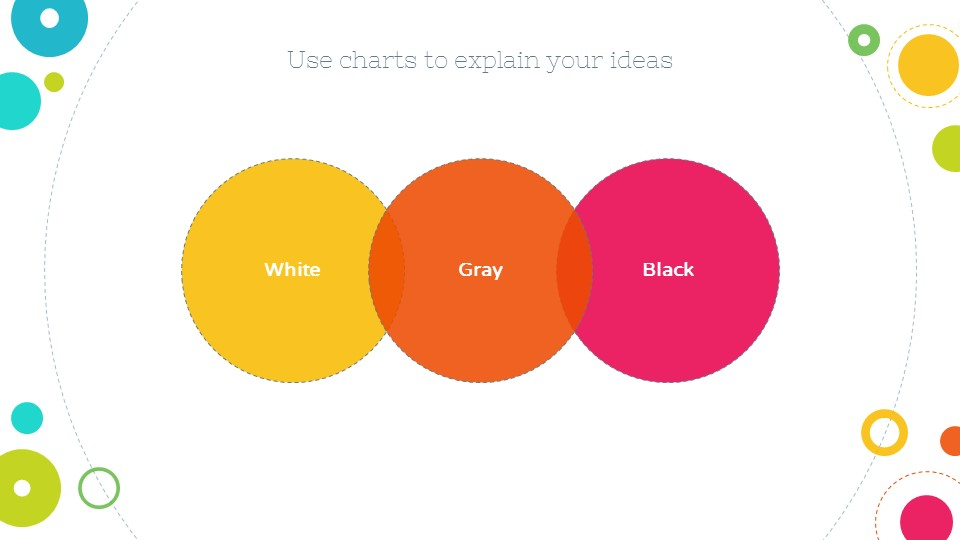 彩色泡泡可爱风格个人简历汇报ppt模板下载