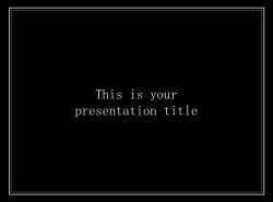 简单黑白叙事幻灯片模板下载