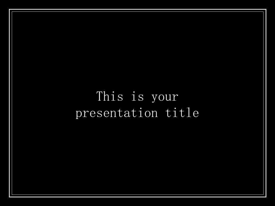 简单黑白叙事幻灯片模板下载_预览图1