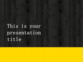 木地板背景风格互联网产品介绍Powerpoint模板下载