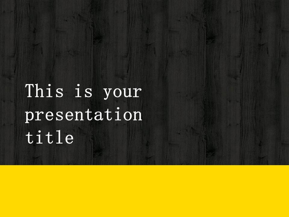木地板背景风格互联网产品介绍Powerpoint模板下载_预览图1