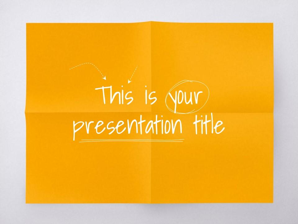 淡雅纸张风格彩色简约商务PPT模板下载_预览图1