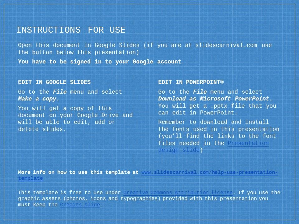 蓝色网格科技互联网风格PPT模板下载_预览图2