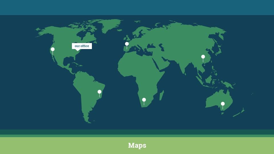 蓝绿简洁欧美超商务PPT模板_预览图15