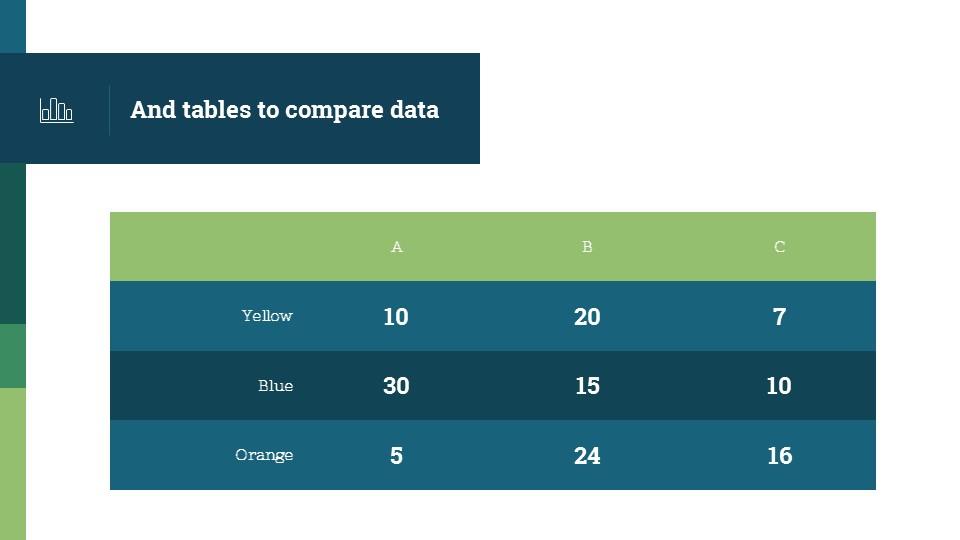 蓝绿简洁欧美超商务PPT模板_预览图14