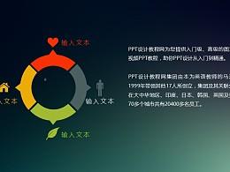4部分结构圆环状PPT模板下载