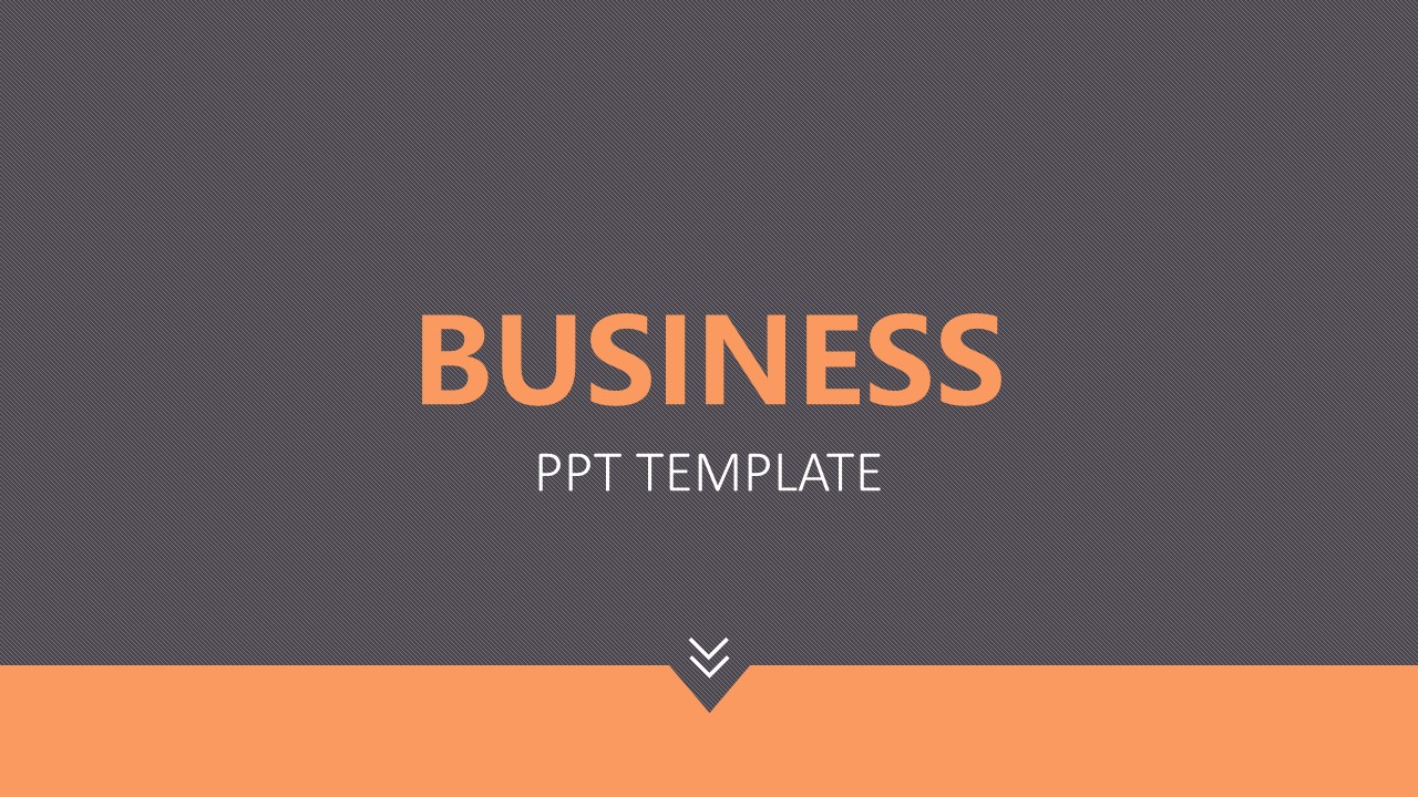 橙色拼图风格商务PPT模板下载_预览图1