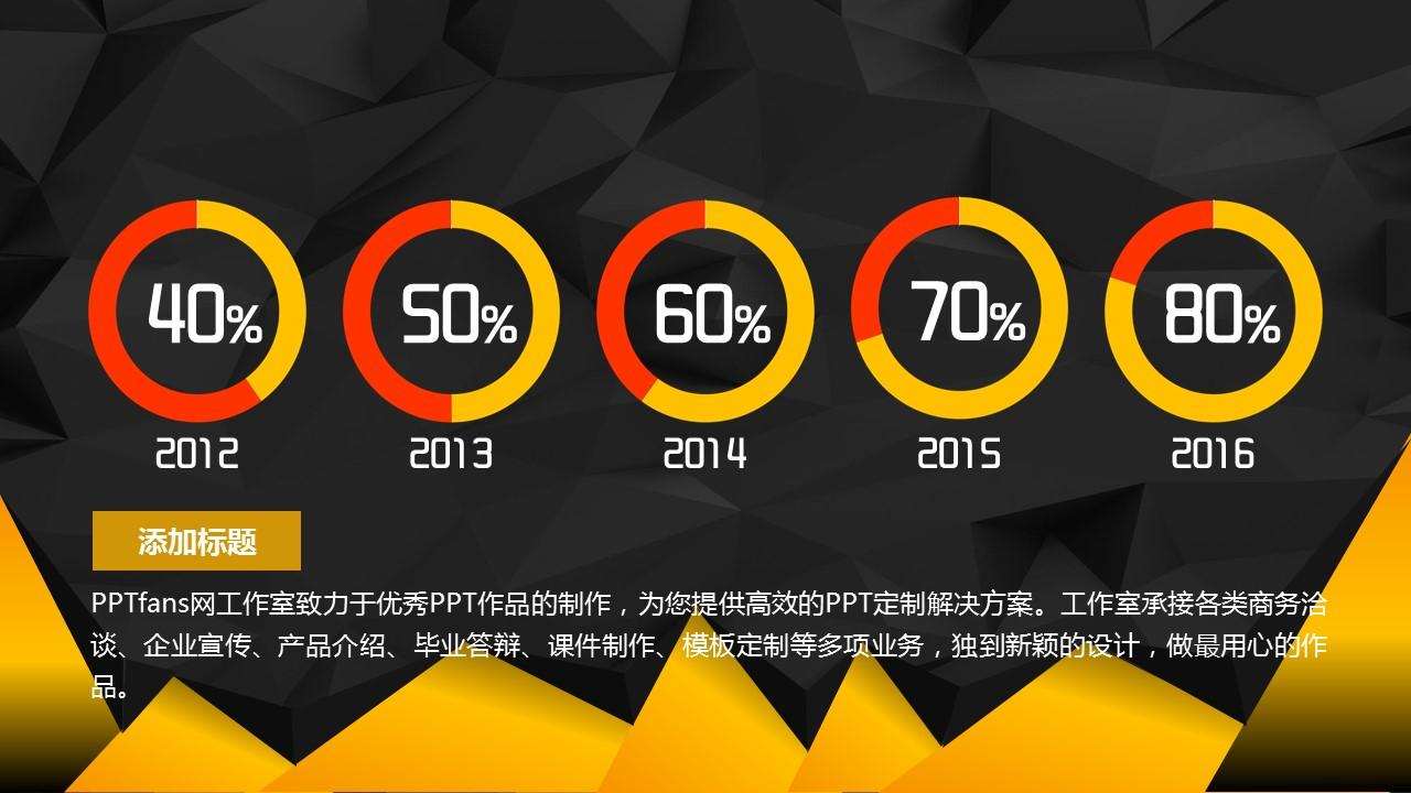 2016时尚黑金年中报告PowerPoint模板_预览图26