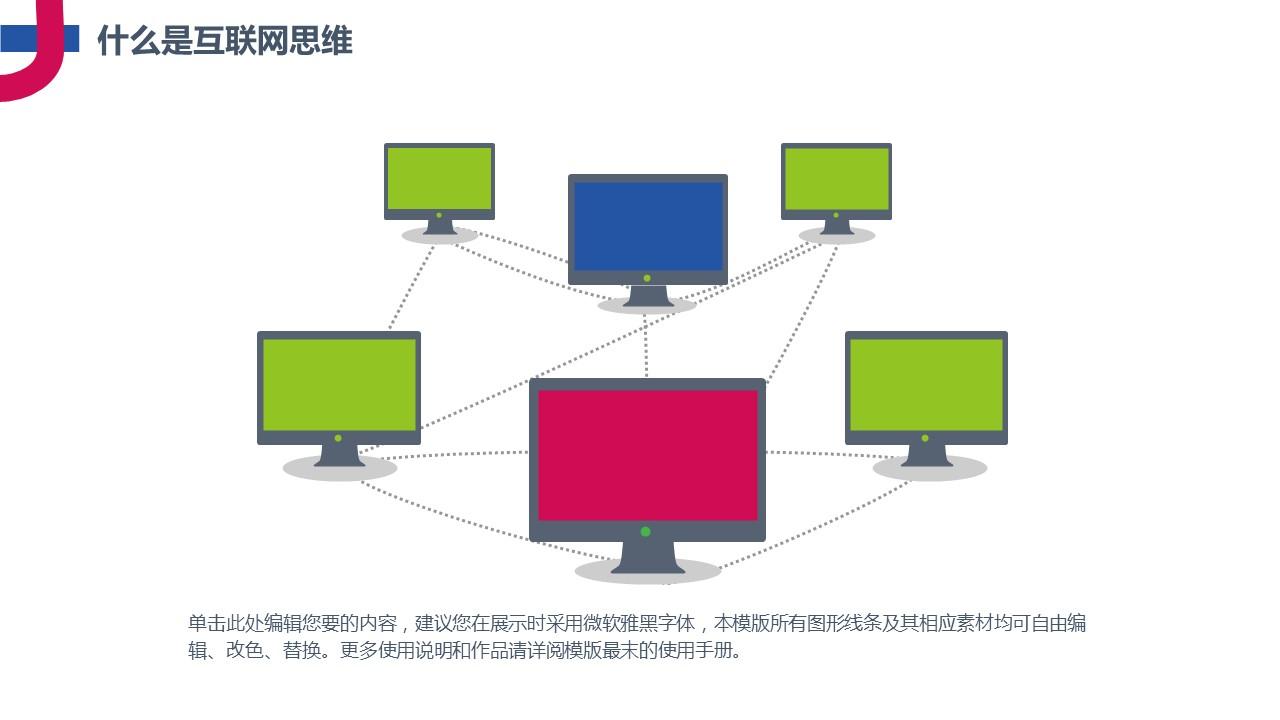 互联网思维主题PowerPoint模板下载_预览图4